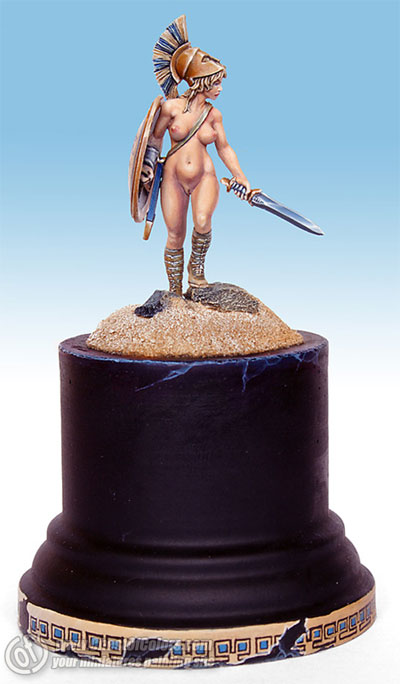 Photo: Artemis - how I painted the miniature - Tutorial