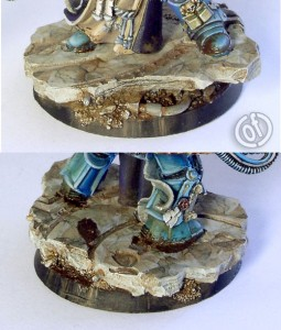 Photo: How to paint marble bases - Tutorial