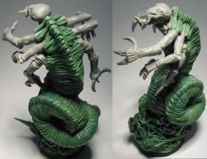 Photo: How to sculpt alien skin - tutorial