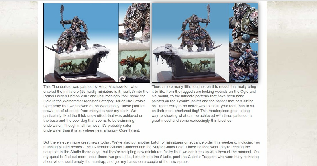 Photo: Ańa's ogre showcased on Games Workshop website
