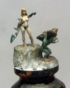 Photo: How to paint lava - tutorial - Taxxis queen of undead