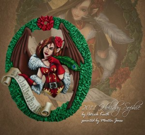 Photo: Miniature painting Christmas is coming