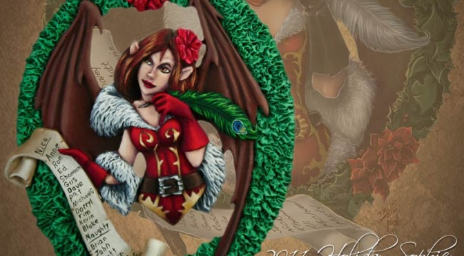 Photo: Miniature painting Christmas is coming (1)