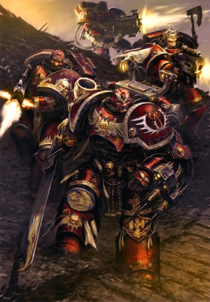 Blood Angels Contemptor dreadnought - inspiration