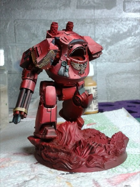 Blood Angels Contemptor dreadnought - WIP