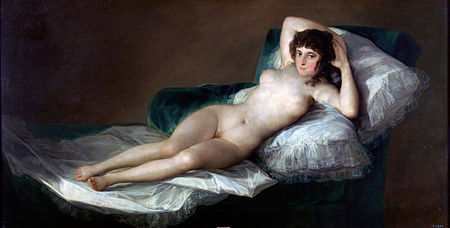 La maja desnuda, by Francisco Goya