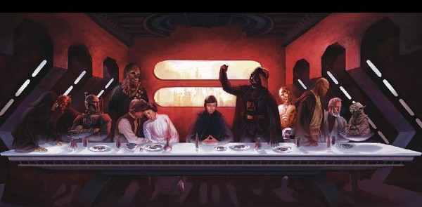 Star Wars Last Supper, by Eric Deschamps Would it make offensive miniatures?