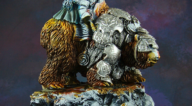 Dwarf King on War Bear WIP
