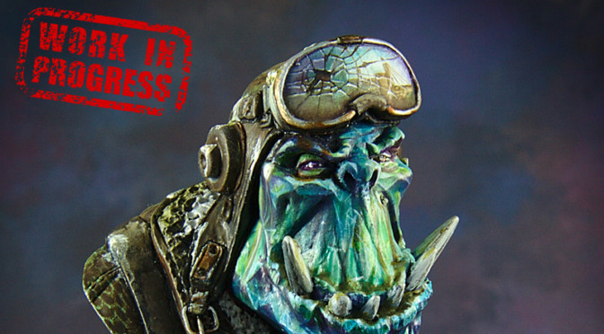 Orc Pilot bust WIP