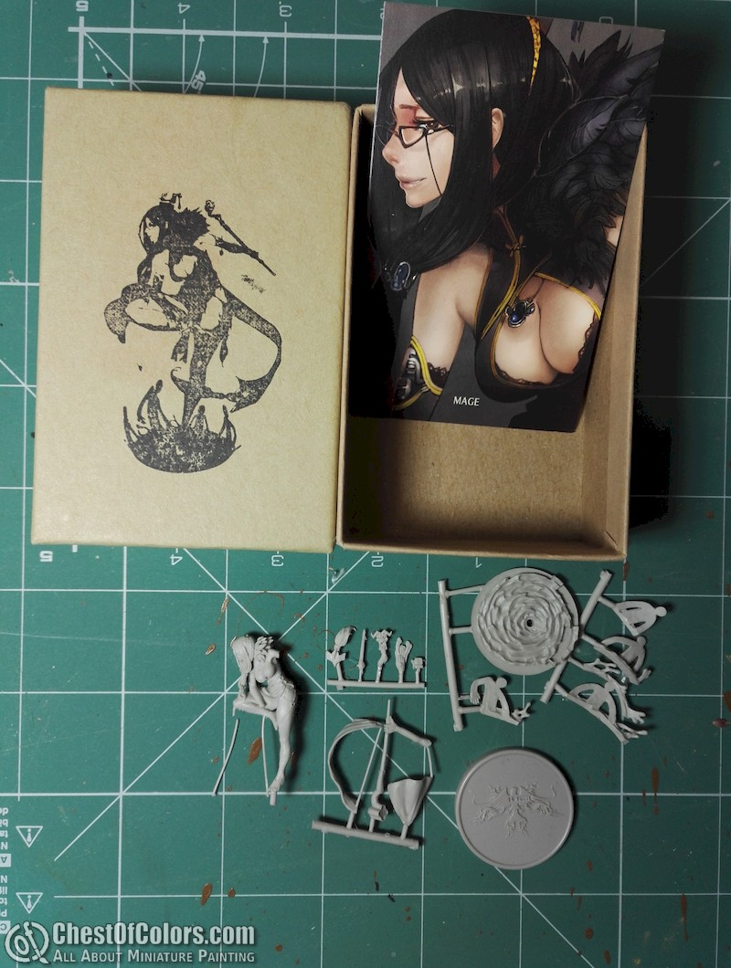 Kingdom Death Mage unboxed