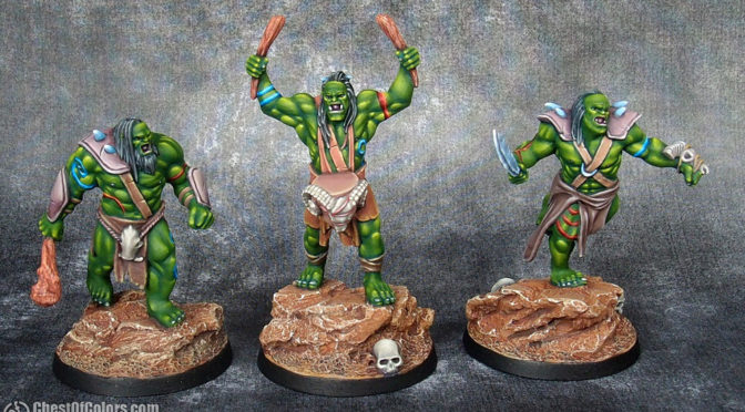 Orcs from Atlantis – first 3 painted