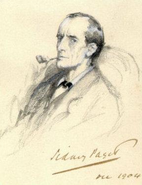 Sherlock Holmes. Portrait by S. Paget