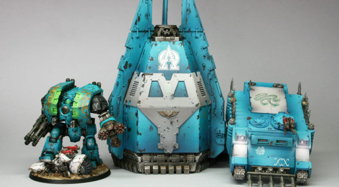Painting Alpha Legion Armour