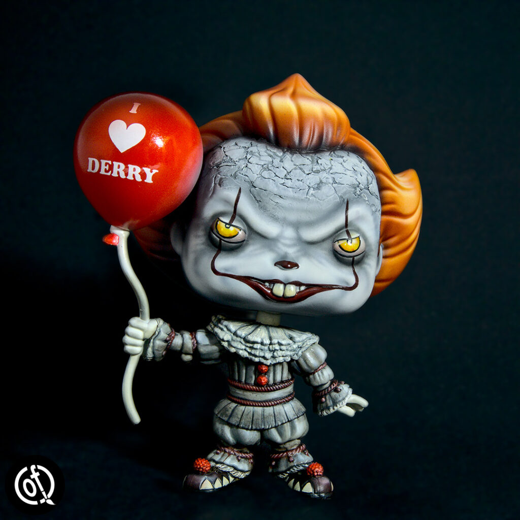 Pennywise the Clown - repainted Funko Pop figure