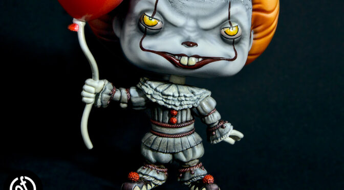 """They All Float Here"" – Repainting Funko Pop Pennywise the Clown"