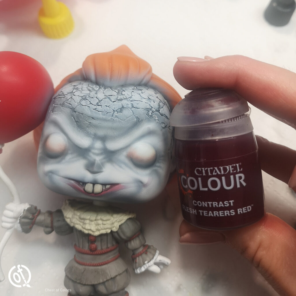 Repainting Funko Pop Pennywise the clown