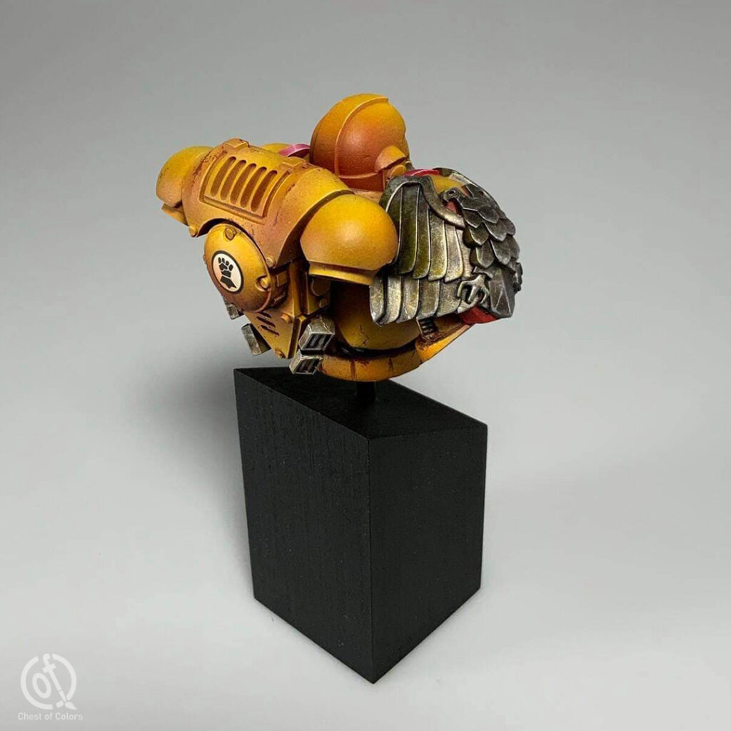 Imperial Fists Space Marine bust
