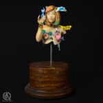 The Dreamer, bust inspired by Japanese decora