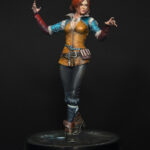 Triss Merigold, repainted collectible statue from Dark Horse