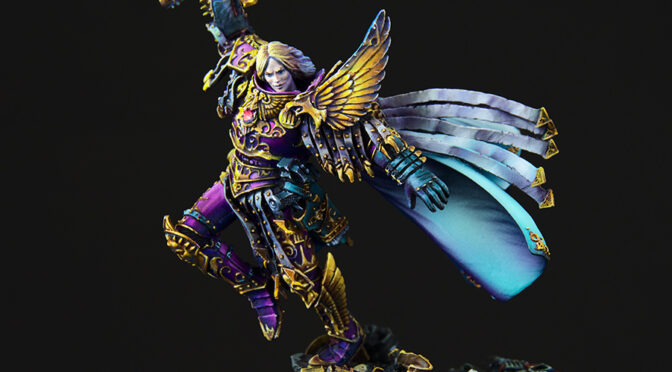 Fulgrim the Phoenician from Forge World – painted
