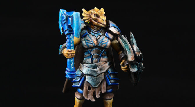 Fiori the Dragonborn from Hero Forge